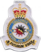 No. IV (4) (R) Squadron Royal Air Force RAF White Crest MOD Embroidered Patch